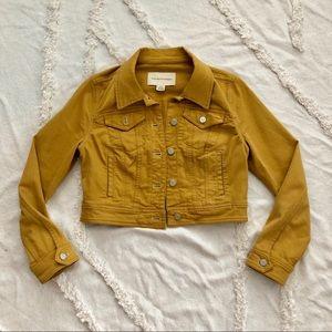 Anthropologie Pilcro Mustard Denim Jacket